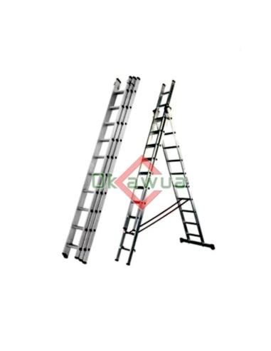 Escalera telescópica Aluminio 5.8 Metros